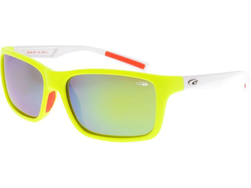 Goggle Okulary przeciwsloneczne bialo-zolte (E916-3P) E916-3P