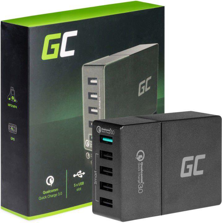 Green Cell Multi USB Charger 5xUSB Quick Charge 3.0 aksesuārs mobilajiem telefoniem