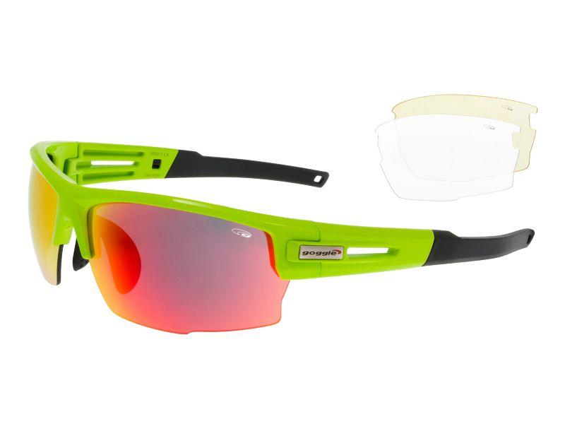 Goggle Okulary przeciwsloneczne neonowo-zielone (E602-2) E602-2