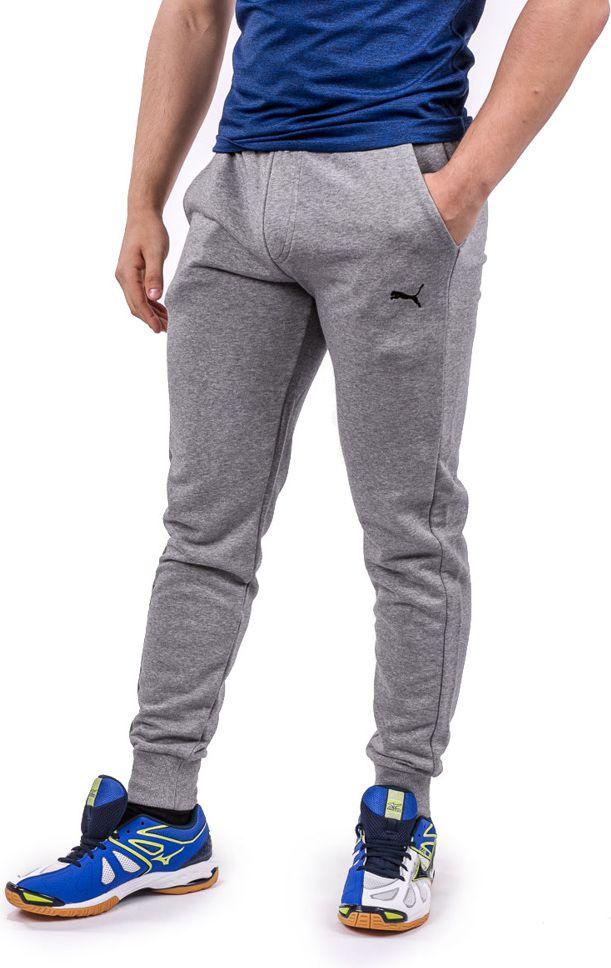 Puma Spodnie meskie Ess Sweet Pants Slim Medium Grey Heather szare r. XL (838380-03) 83838003-03
