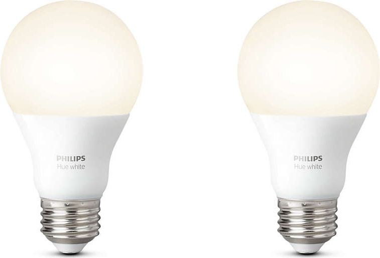 1x2 Philips Hue LED Lamp  E27 9,5W (60W) warm-white 800lm