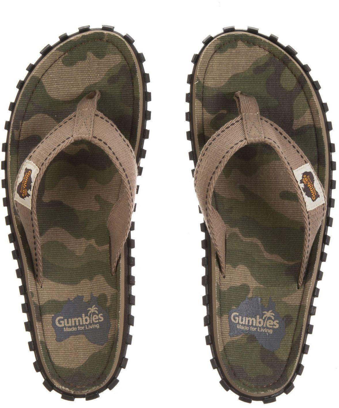 Gumbies Japonki meskie Islander Canvas Flip-Flops Men Camouflage r. 41 4009287