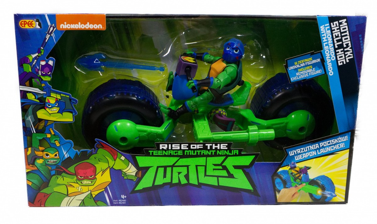 Figure Teenage Mutant Ninja Turtles Motorcycle Shell Hog Leonardo PZN82480/36401 bērnu rotaļlieta