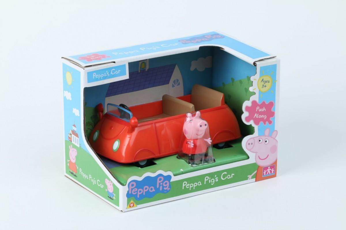 Set with figure Peppa Pig Car II PEP06059 bērnu rotaļlieta