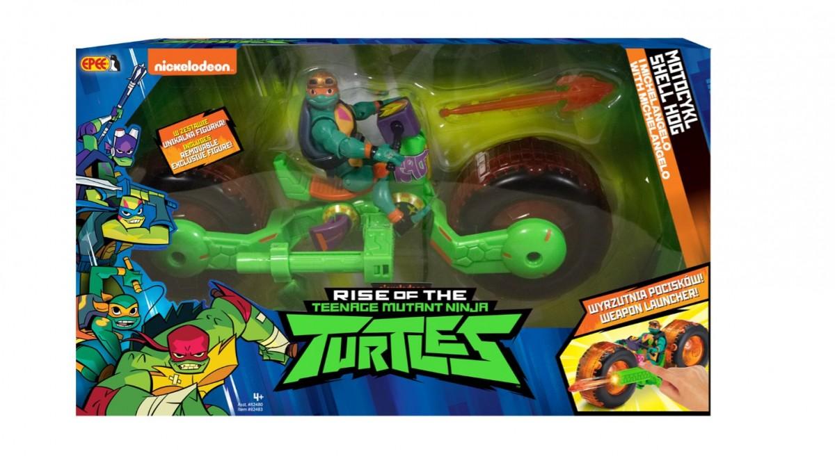 Figure Teenage Mutant Ninja Turtles Motorcycle Shell Hog Michaelangelo PZN82480/36418 bērnu rotaļlieta