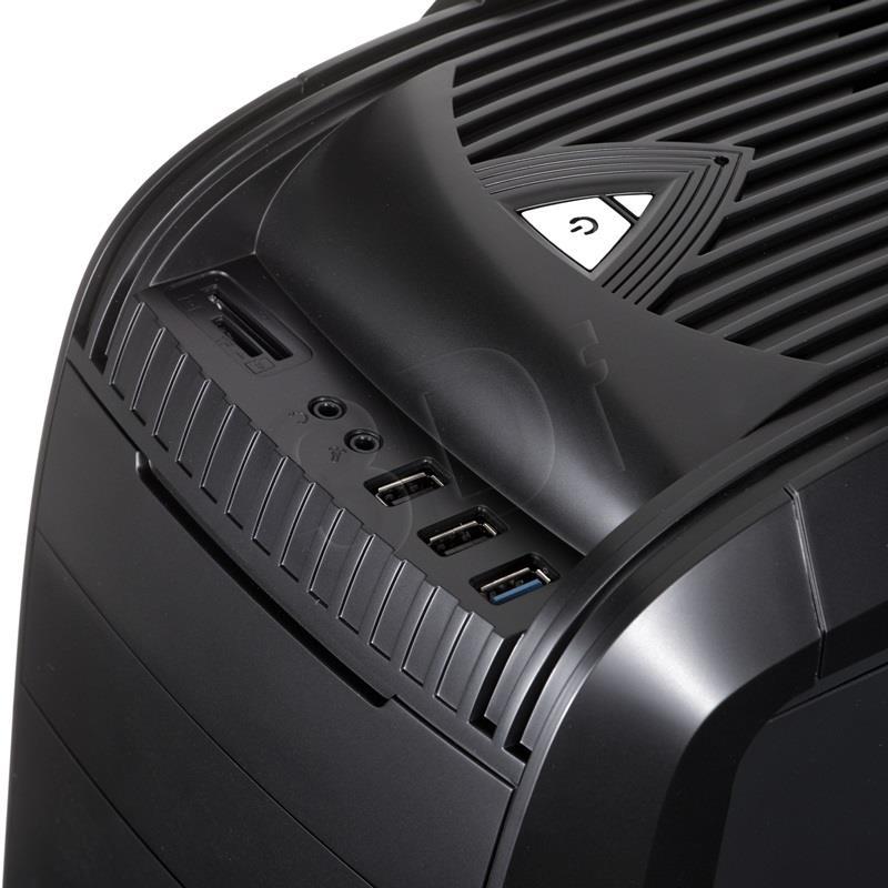 Akyga Midi ATX Gaming Case AKY011BG USB 3.0, Plexi Window, Card reader, w/o PSU Datora korpuss