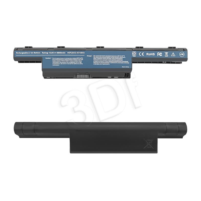 Qoltec Long Life Notebook Battery - Acer Aspire 4741 | 6600mAh | 11.1V akumulators, baterija portatīvajiem datoriem