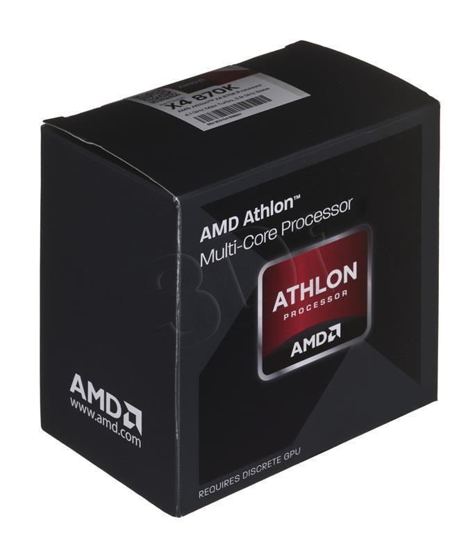 AMD Athlon X4 870K, Quad Core, 3.90GHz, 4MB, FM2+, 28nm, 95W, BOX, BE CPU, procesors