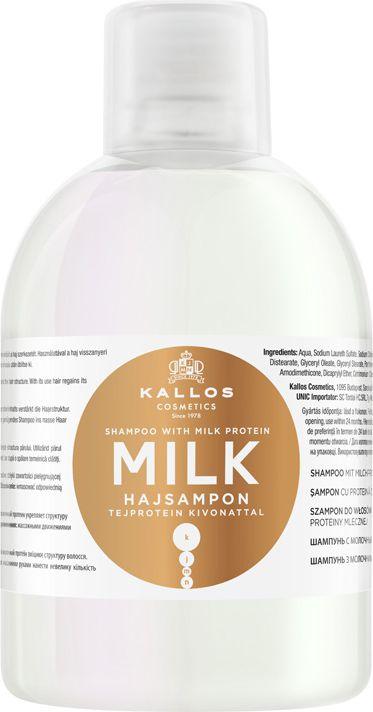 Kallos KJMN Szampon Milk z wyciagiem proteiny mlecznej 1000ml Matu šampūns