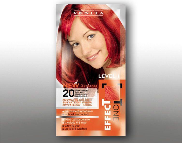 Venita Szamponetka EFFECT TONE 2x25 ml 20 jasna czerwien V1051
