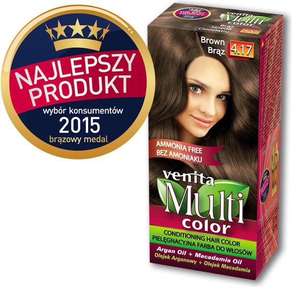 Venita Farba bez amoniaku Multi Color 4.17 braz V1046