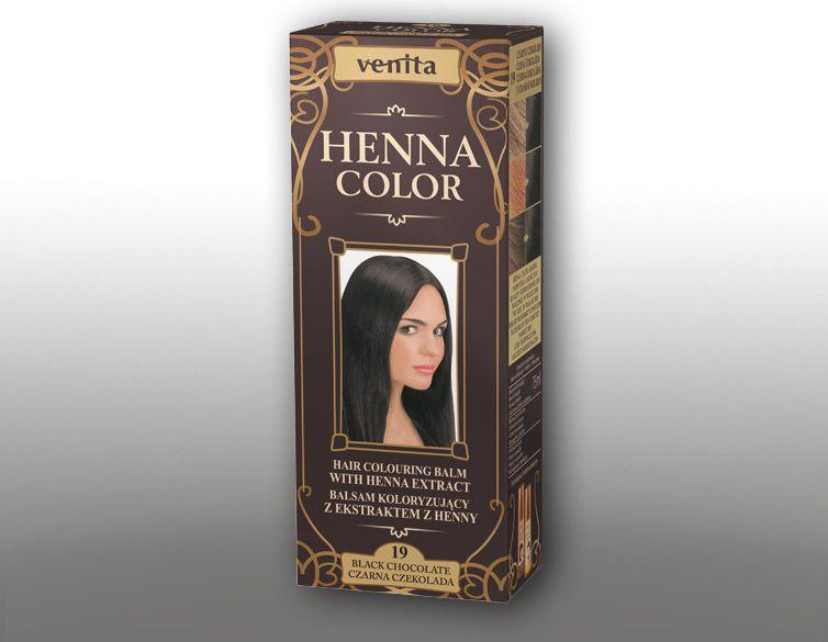 Venita Ziolowe Balsamy Henna Color 19 czarna czekolada 75ml V1099