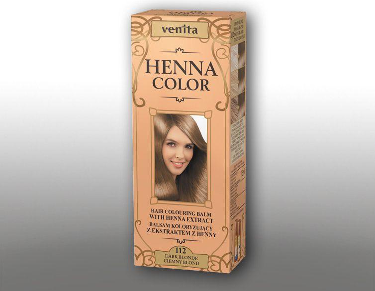 Venita Ziolowe Balsamy Henna Color 112 ciemny blond 75ml V0069