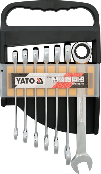 Yato Set of ratchet combination wrench 10-19mm 7pcs (YT-0208)