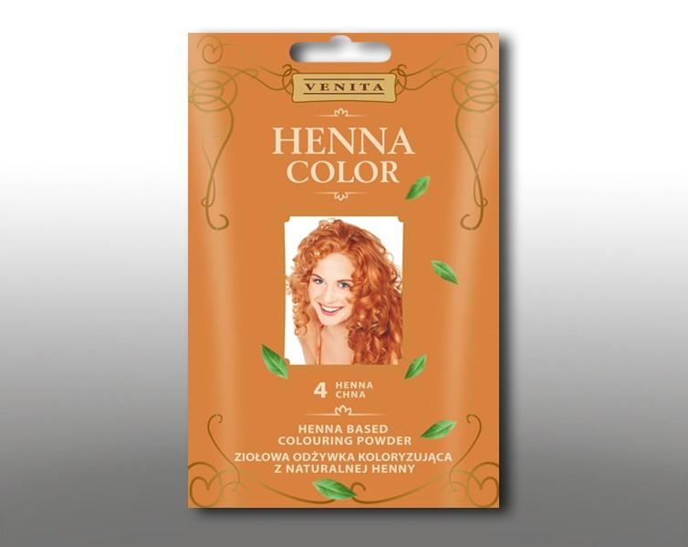 Venita Ziolowa odzywka koloryzujaca Henna Color 30g  4 Chna V1068