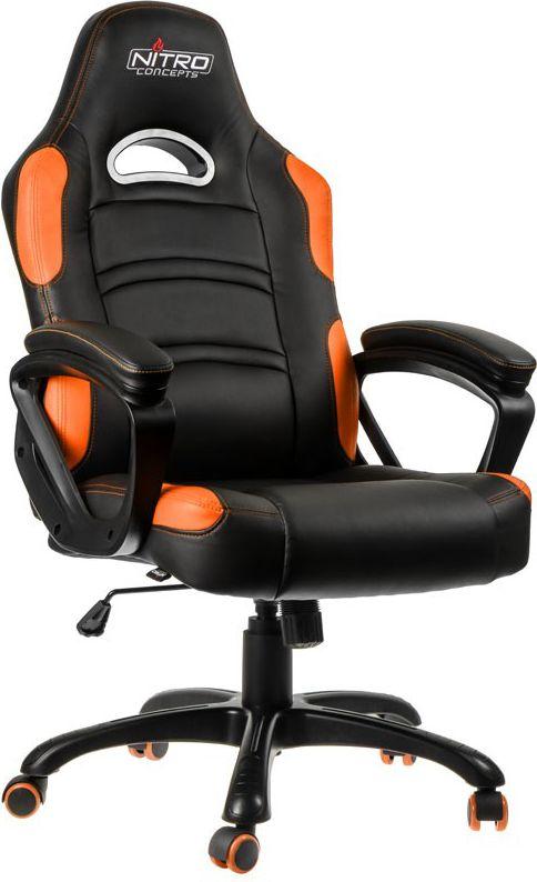 Nitro Concepts C80 Comfort fotel gamingowy - Black-orange datorkrēsls, spēļukrēsls