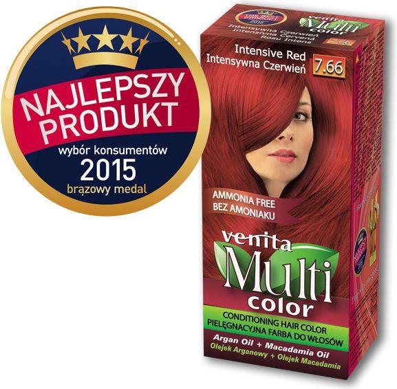 Venita Farba bez amoniaku Multi Color 7.66 intensywna czerwien V1262