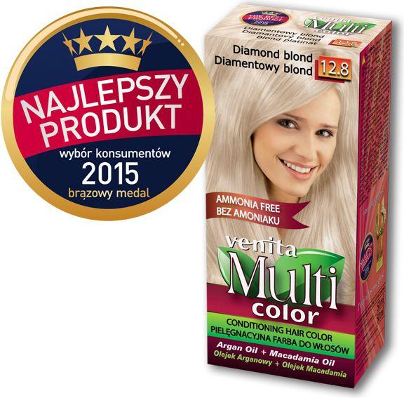 Venita Farba bez amoniaku Multi Color 12.8 diamentowy blond V1037