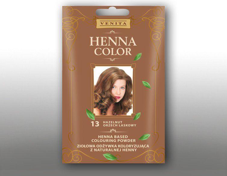 Venita Ziolowa odzywka koloryzujaca Henna Color 30g  13 orzech laskowy V1074