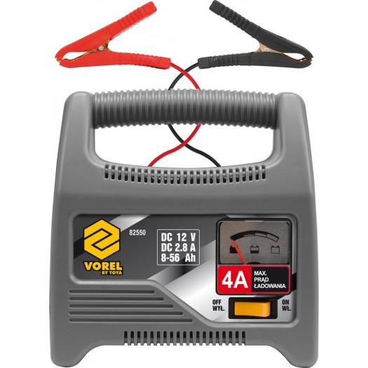 Vorel Prostownik 12V 4A 56Ah (82550) 82550 auto akumulatoru lādētājs