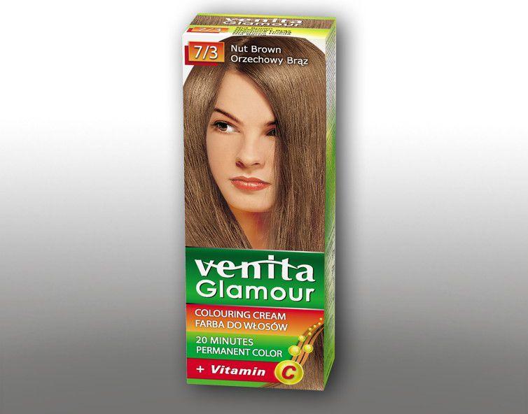 Venita Farba do wlosow GLAMOUR  7/3 orzechowy braz V1004