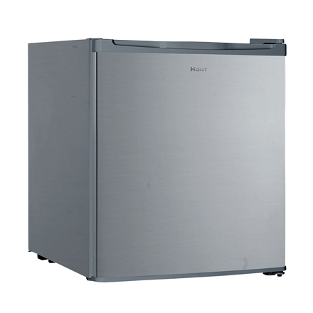 Haier Refrigerator HMF-406S Free standing, Larder, Height 51 cm, A+, Fridge net capacity 42 L, Freezer net capacity 4 L, 42 dB, Silver Ledusskapis