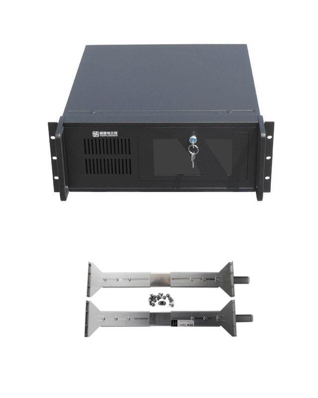 PromoPack: Gembird 19'' Rack-mount server chassis (4U),black + Railings for 19''