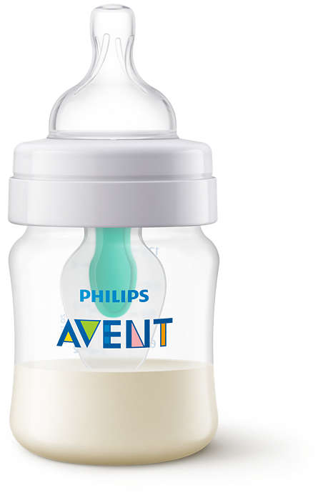 Philips Avent Pretkoliku pudelīte ar AirFree vārstu 125 ml, 0M+ SCF810/14 bērnu barošanas pudelīte