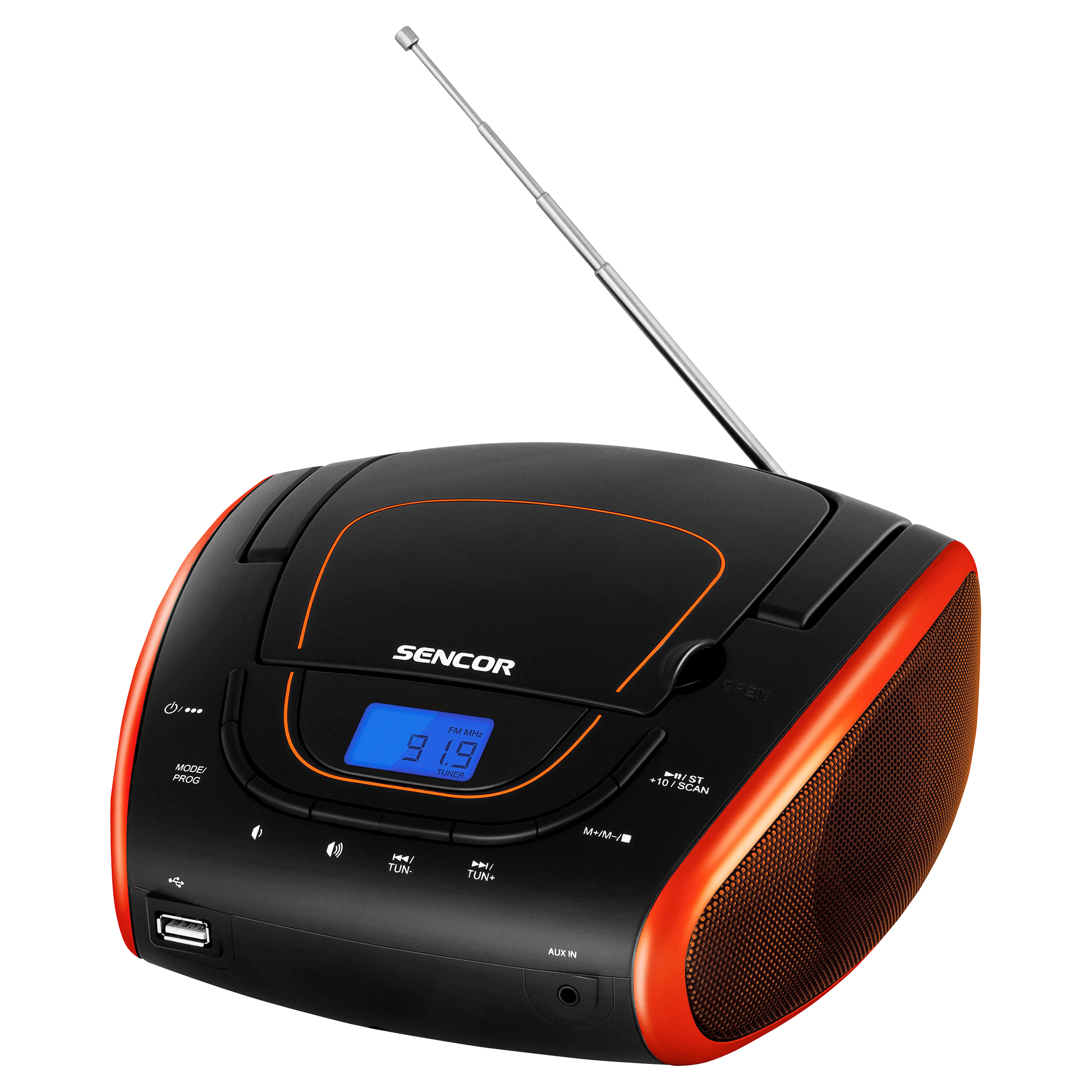 Portatīvs CD atskaņotājs Sencor SPT 1600 BOR magnetola