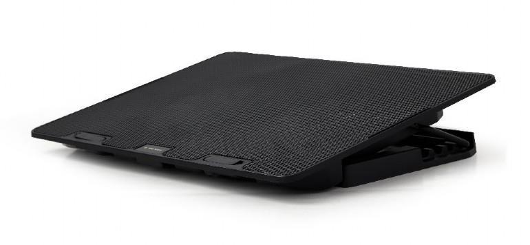 Notebook cooling stand 15.6 + 2 fans portatīvā datora dzesētājs, paliknis
