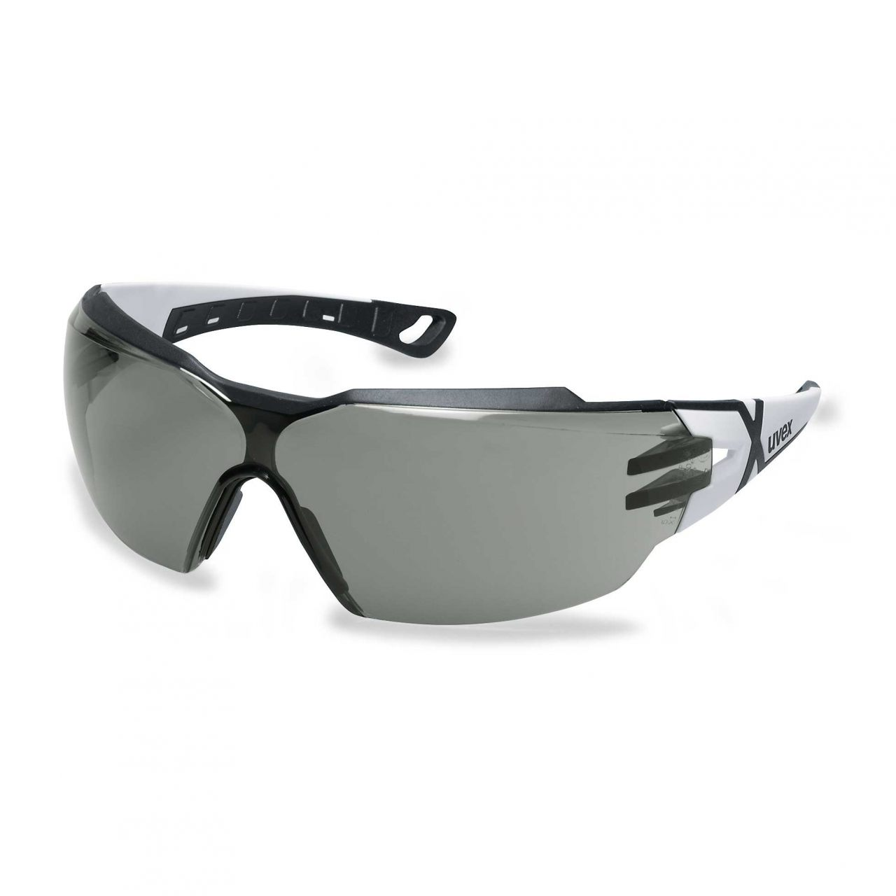 UVEX aizsargbrilles Pheos CX2, tumsa leca, supravision excellence (pretaizsvistosas, pretskrapejosas) balts/melns, RT Instrumentu apstrādei