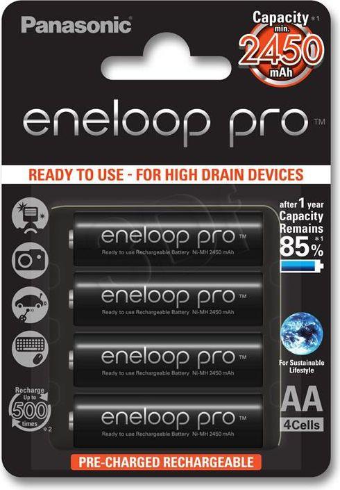 PANASONIC ENELOOP PRO R6/AA 2450MAH Baterija