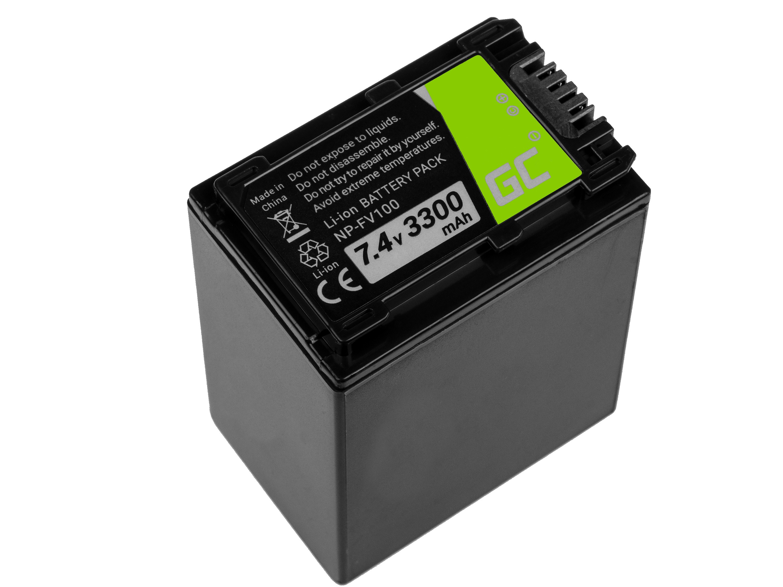 Battery Green Cell ® NP-FV100 / NP-FV50 for Sony DCR-DVD506E DCR-DVD510E HDR-CX1 Baterija