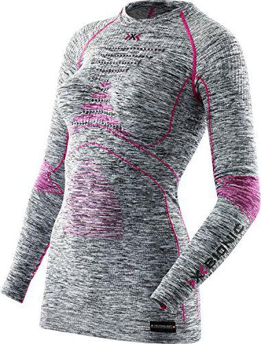 X-BIONIC Koszulka damska X-Bionic ACC_EVO MELANGE UW SHIRT ROUND NECK szaro-rozowa r. L/XL (025-Z0000-I100668G739003-807) 025-Z0000-I100668G
