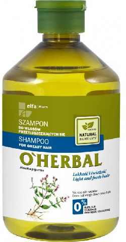 Elfa Pharm  O'Herbal Szampon for hair przetluszczajacych mieta 500ml - 810487 Matu šampūns