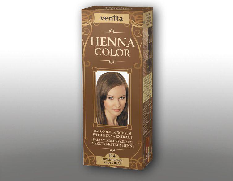 Venita Ziolowe Balsamy Henna Color 114 Zloty braz 75ml V1103