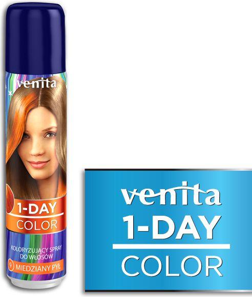 Venita 1-Day color spray 9 miedziany pyl V220