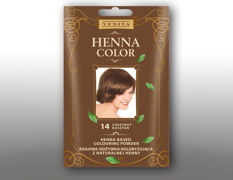 Venita Ziolowa odzywka koloryzujaca Henna Color 30g  14 kasztan V1075