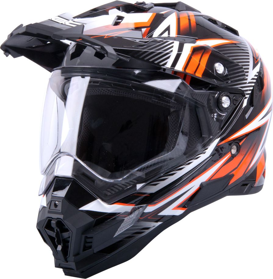 W-TEC Kask motocyklowy AP-885 graphic czarny/pomaranczowy r. S 55-56 (9921-S-2) 9921-S-2