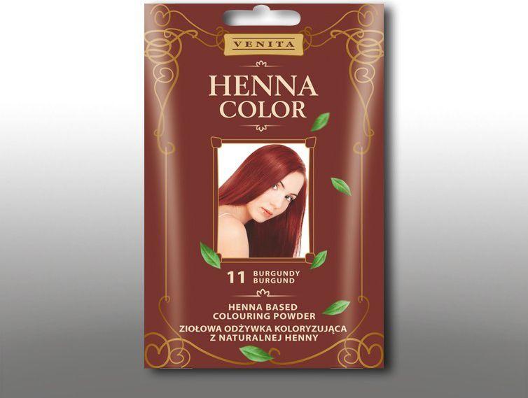 Venita Ziolowa odzywka koloryzujaca Henna Color 30g 11 burgund V1072