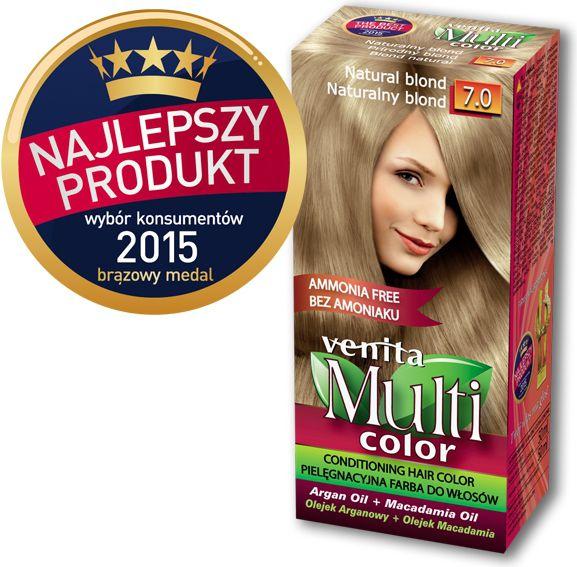 Venita Farba bez amoniaku Multi Color 7.0 naturalny blond V1039