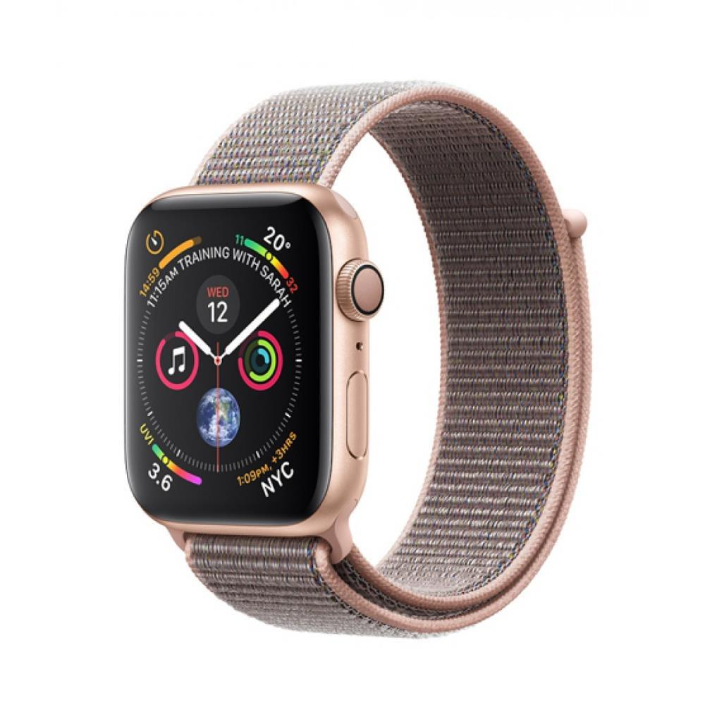 Apple Watch 4 44mm Gold Aluminium Case with Pink Sand Sport Loop Viedais pulkstenis, smartwatch