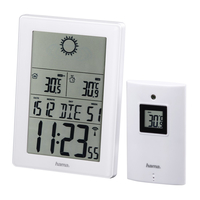 HAMA EWS-3100 WEATHER    STATION WHITE barometrs, termometrs