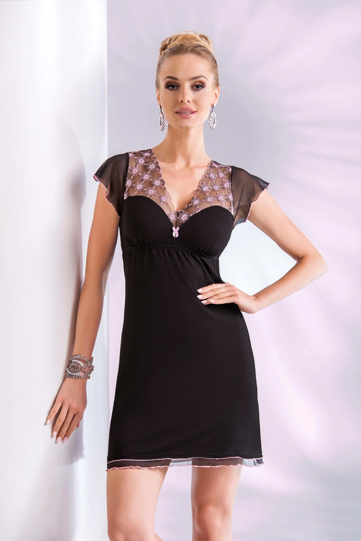 Donna Koszulka Paris czarno-rozowa r.  XXXL 38897