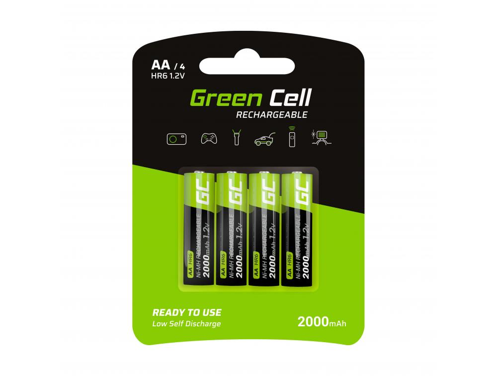 Green Cell 4x Akumulator AA HR6 2000mAh Baterija