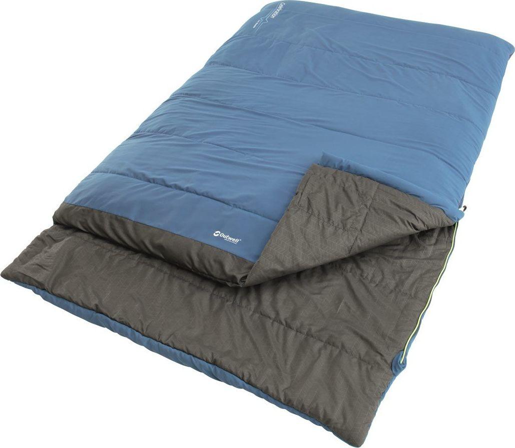 Outwell Celebration Lux Double, Sleeping bag, 225 x 140 cm, 6/2/-13 °C, Blue guļammaiss