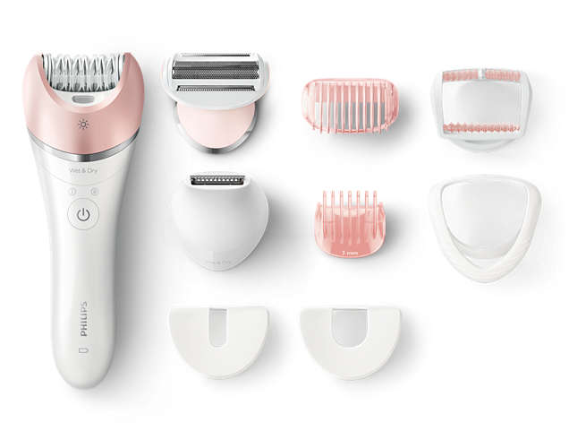 Philips Satinelle Advanced Wet & Dry epilator BRE640/00 For legs, body and face 8 accessories Cordless Epilators