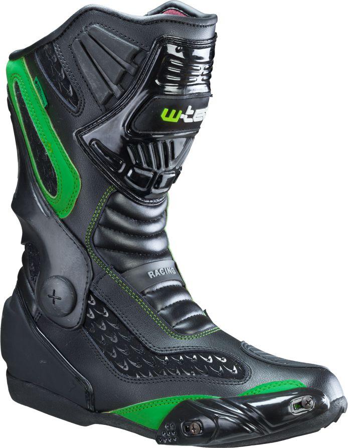 W-TEC Buty motocyklowe skorzane NF-6003 Zielone r. 47  (12180-47) 12180-47