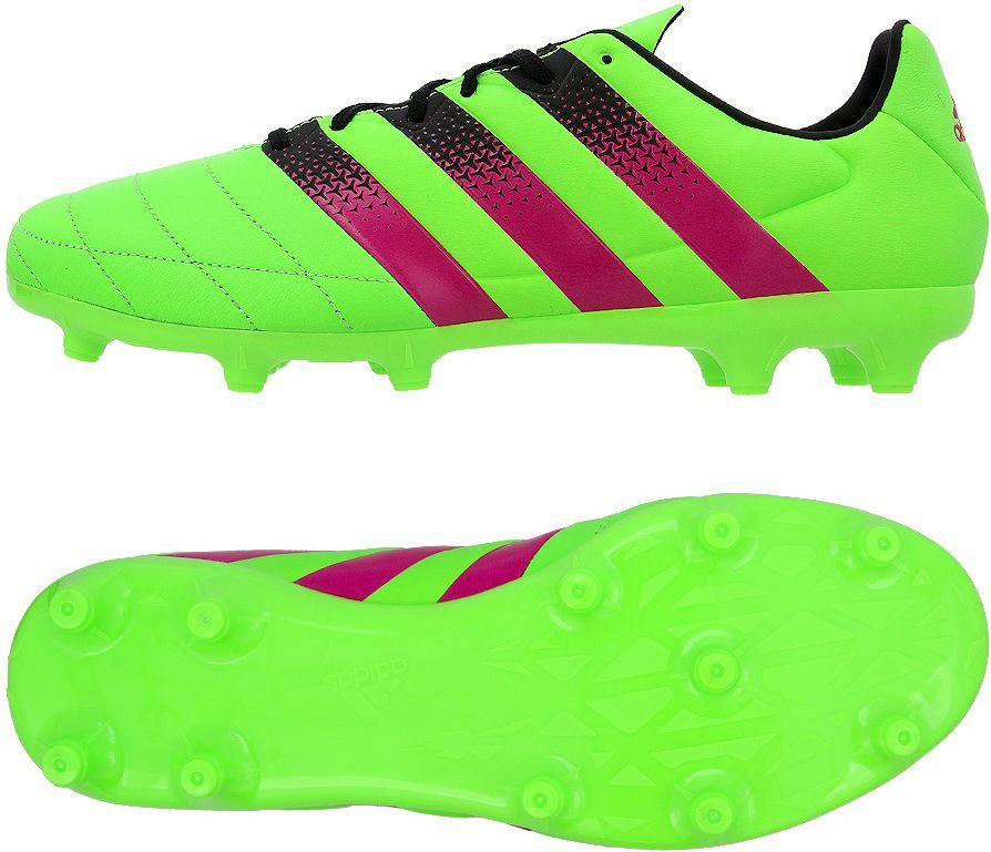 Adidas Buty pilkarskie ACE 16.3 FG/AG Leather zielone r. 41 1/3 (AF5162) AF5162