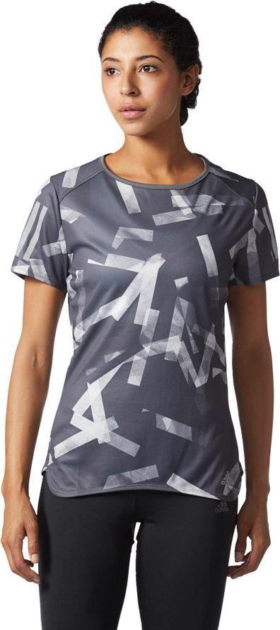 Adidas Koszulka damska RS Q3 Graphic T W  szary r. S (BS2898) BS2898
